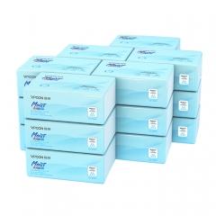 蓝色柔润360张135软抽18包