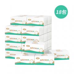 维邦超质感面巾纸360张132软抽18包